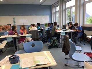 Foto aus dem Unterricht in der Neuen Schule Dorsten