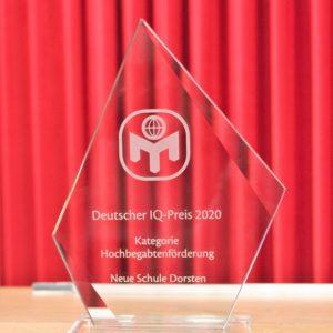 """Wir haben den IQ-Preis 2020 in der Kategorie """"Hochbegabtenförderung"""" gewonnen!!!"""